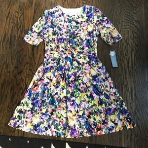 NEW! London Times Abstract Fit & Flare Dress